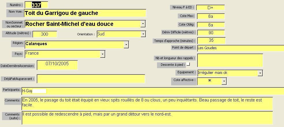 Toit du Garrigou de gauche, St-Michel d`eau douce