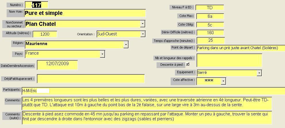 Voie Pure et simple, Plan Chatel, Maurienne